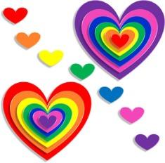 colored-hearts
